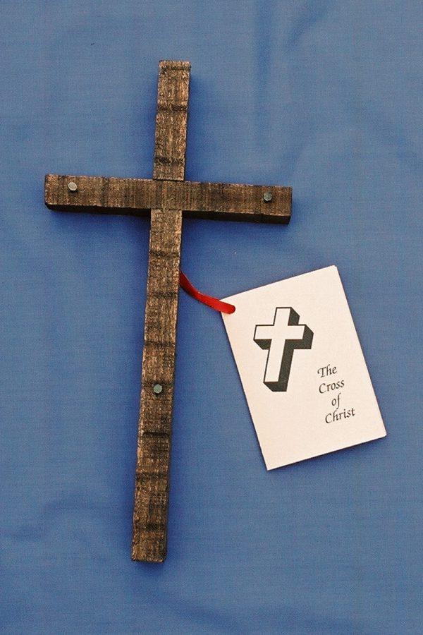 Handmade Dark Wooden Cross Small