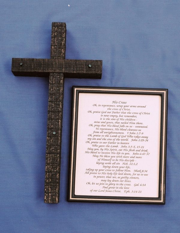 Handmade Dark Wooden Cross Set