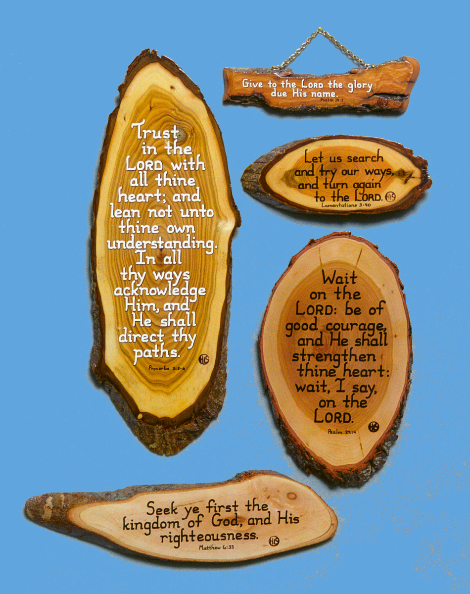 Exhortations Themed Bible Verse Plaque Gifts