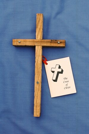 Light stained wooden cross