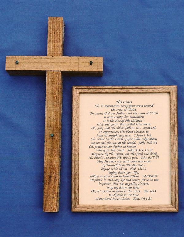 Handmade Light Wooden Cross Set
