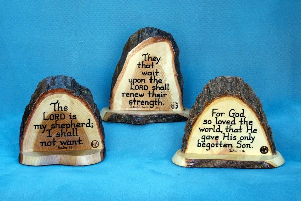 Medium stand-up Wooden Scripture Plaques