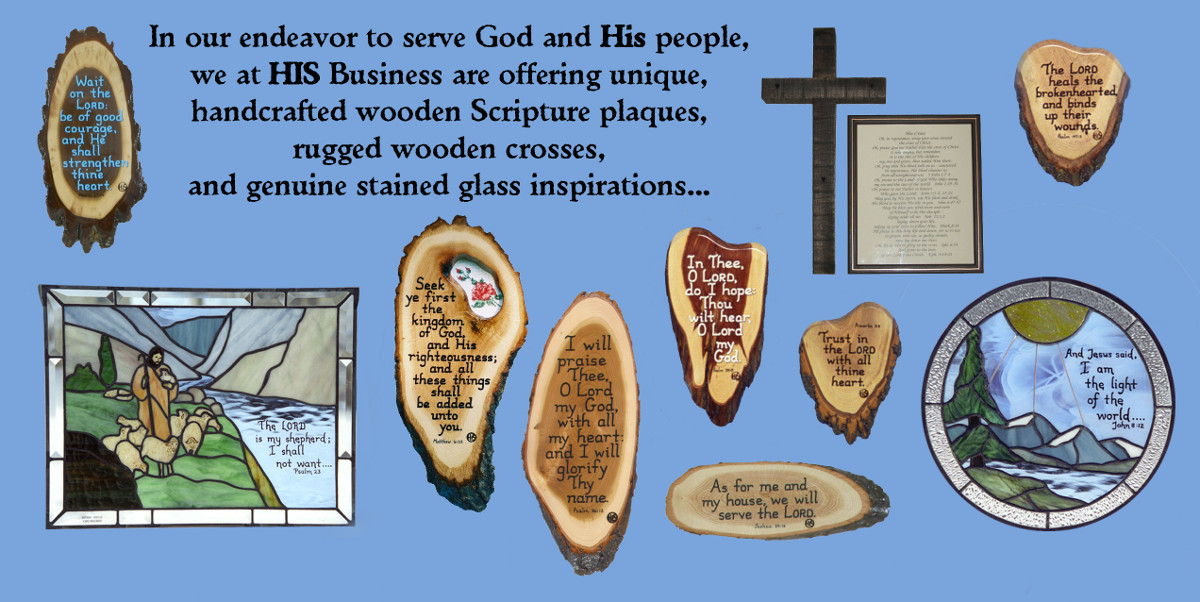 Scripture Plaques Wooden Crosses Stained Glass