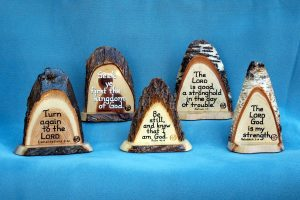 Small stand-up Wooden Bible Verse Plaques