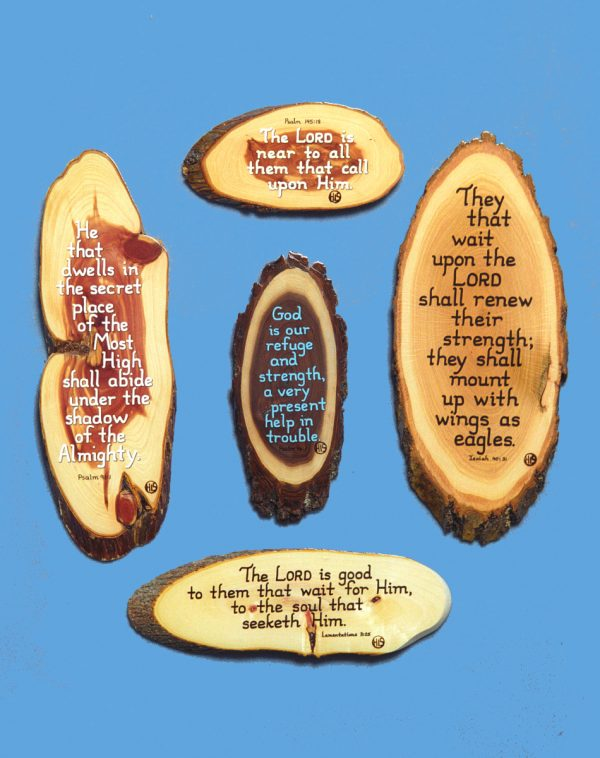 Wooden Scripture Plaque Promises in time of trial