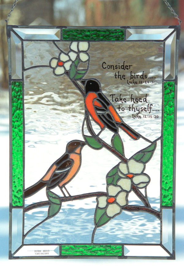 Baltimore Orioles Stained Glass