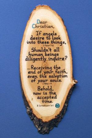 Dear Christian Wooden Bible Verse Plaque