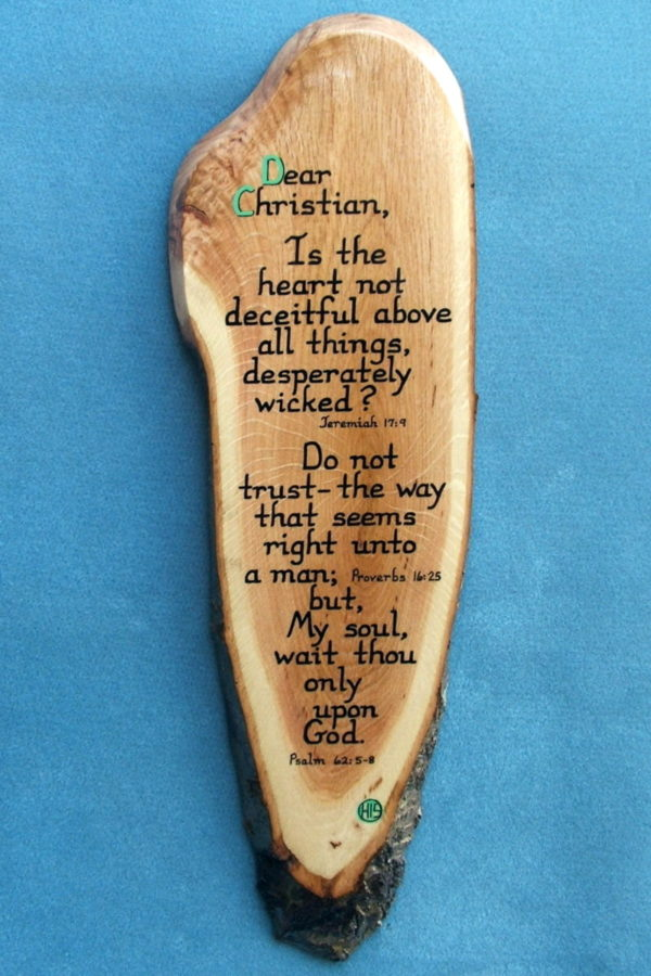 Dear Christian Wooden Bible Verse Plaque