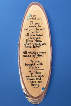 Dear Christian Wooden Scripture Plaque