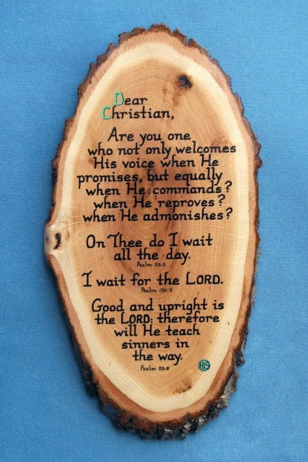 Dear Christian Wooden Scripture Plaque