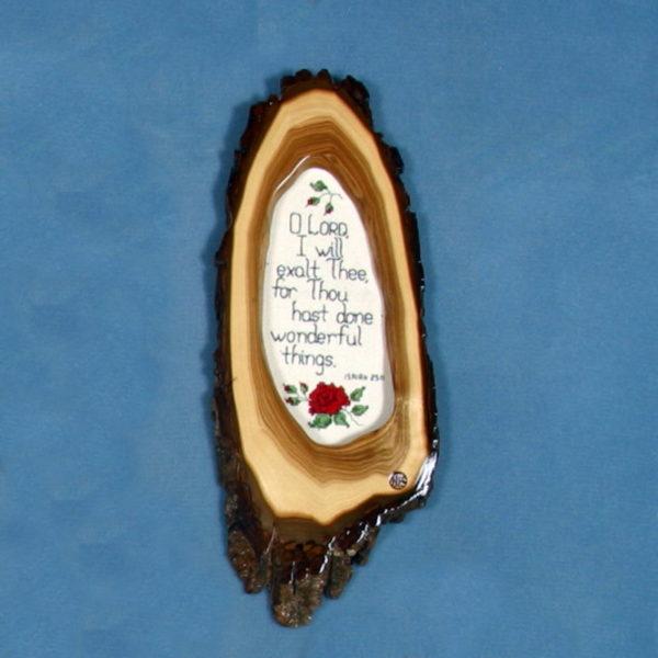 Cross stitch Wooden Bible Verse Plaque 4