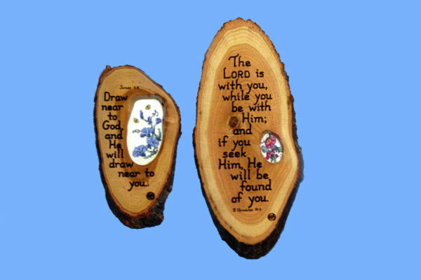 Cross stitch Wooden Scripture Plaque