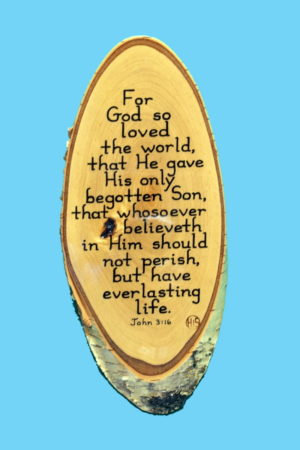 John 3-16 Wooden Scripture Plaque
