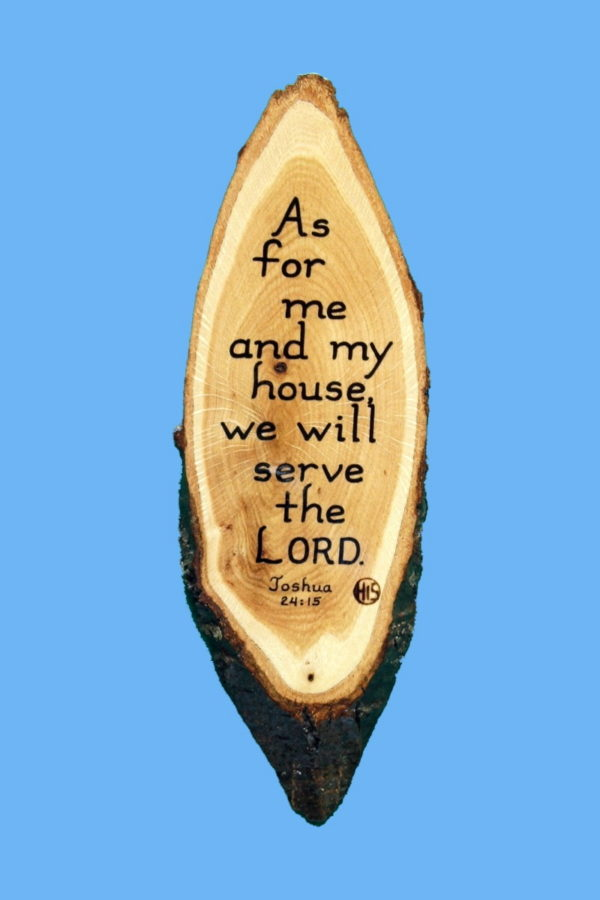 Joshua 24-15 Wooden Bible Verse Plaque