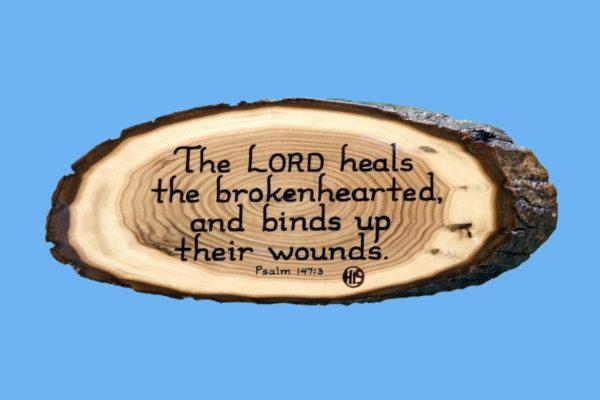 Psalm 147-3 Wooden Scripture Plaque