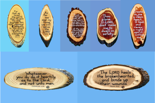Ready Made Wooden Scripture Plaques